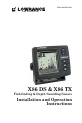 Lowrance X86 DS Installation and operation instructions manual - Page 1
