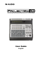 M-Audio ProjectMix I/O Operation & user's manual - Page 1