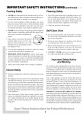 Maytag MEW5527 Operation & user's manual - Page 4