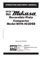 MULTIQUIP Mikasa MVH-402DSB Operation and parts manual - Page 1