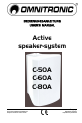 Omnitronic C-50A Operation & user's manual - Page 1