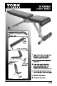 York Fitness 13 IN 1 BENCH Instructions manual - Page 1