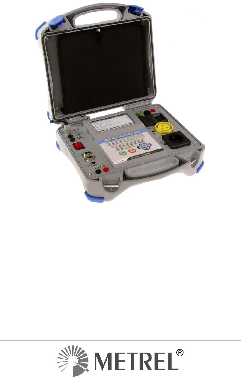 Metrel Omegapatplus Mi 3305 Test Equipment Operation